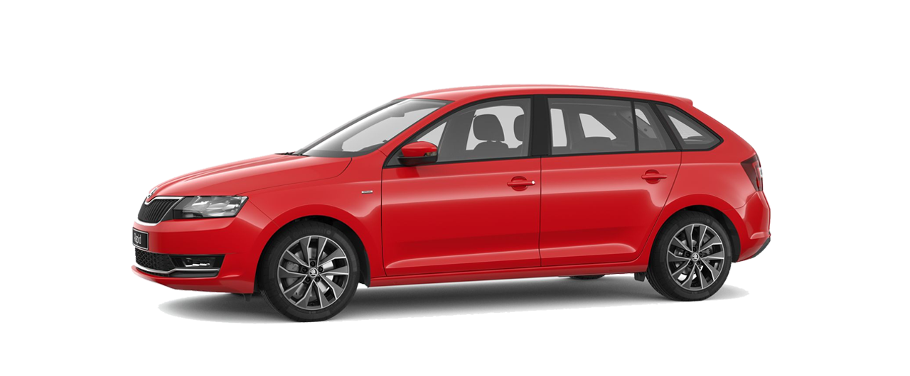 Rapid-Spaceback skoda rood