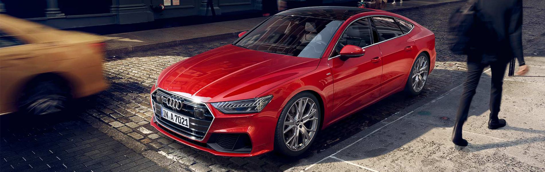 Audi A7 banner nieuwe site rood